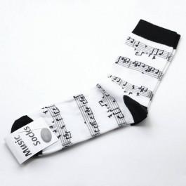 Calcetines partitura blanco