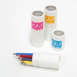 Cilindro 12 mini lápices colores