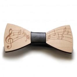 Pajarita madera música negro