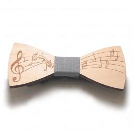 Pajarita madera música gris
