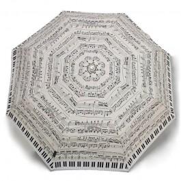 Paraguas Piano crema plegable