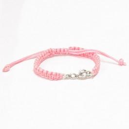 Pulsera Clave de Sol Plata de Ley correa rosa