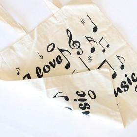Bolsa algodón I Love Music