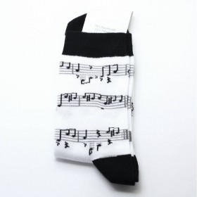 Calcetines partitura blanco