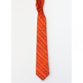 Corbata naranja partitura