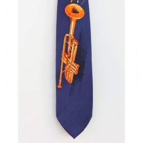 Corbata trompeta azul