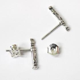 Mini Pendientes Flauta (plata de ley)