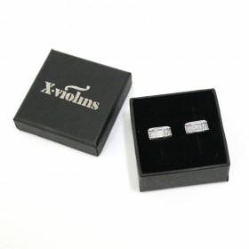 Mini Pendientes Caja de Batería (plata de ley)