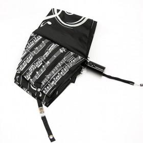 Paraguas Clave de Sol negro plegable