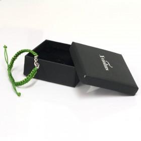 Pulsera Clave de Sol Plata de Ley correa verde
