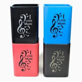 Cubilete portalápices I Love Music