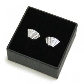 Mini Pendientes Acordeón (plata de ley)