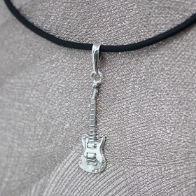 Colgante Guitarra Eléctrica Plata de Ley