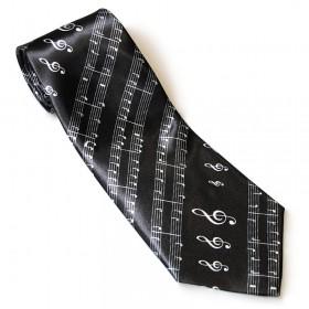 Corbata Clave de Sol negra
