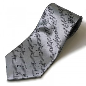 Corbata gris partitura