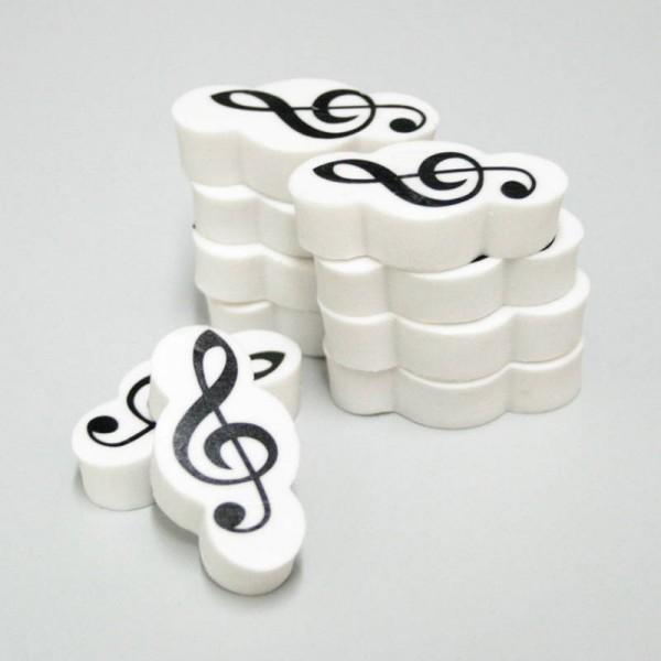 Goma de borrar con diseño musical de Clave de Sol