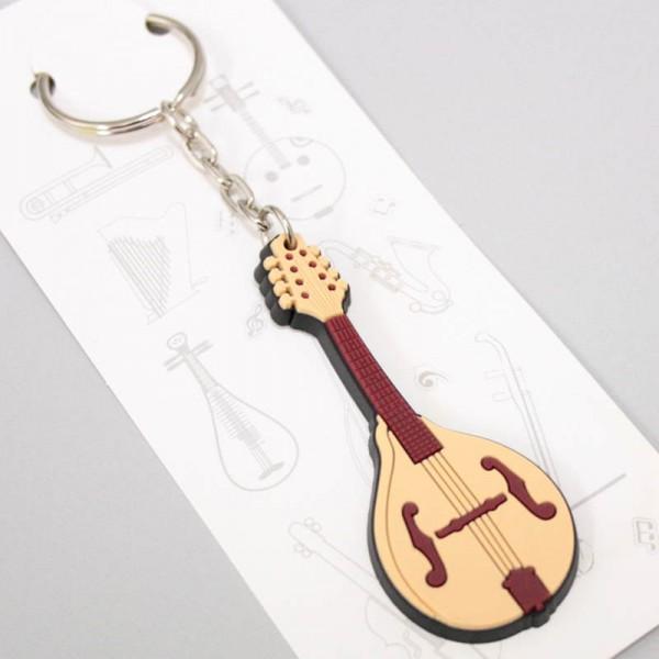Llavero musical con forma de mandolina de PVC