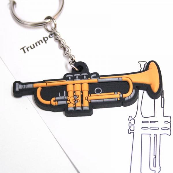 Llavero musical con forma de trompeta de PVC