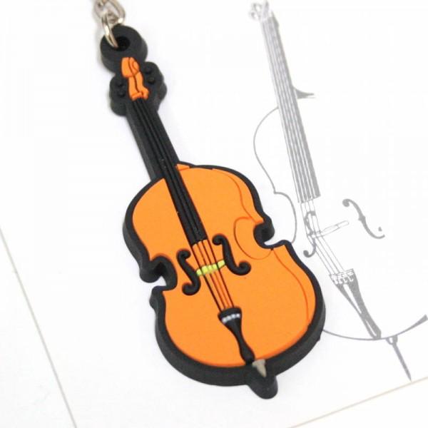 Llavero musical con forma de violoncelo de PVC