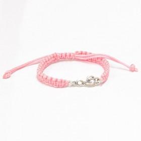 Polsera Clau de sol Plata de Llei corretja rosa