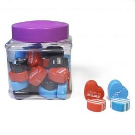 Heart eraser canister (30 units)