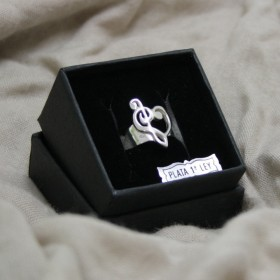 Treble and Bass Clef Ring (sterling silver)