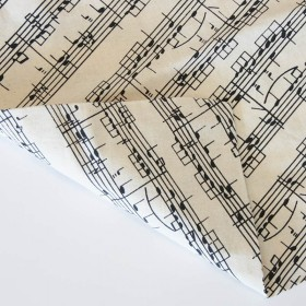 Music Sheet Cotton Bag