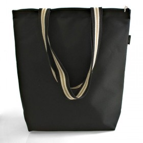 Treble Clef black tote bag