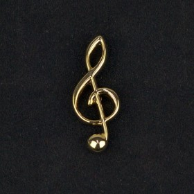 Treble Clef Lapel Pin (gold-plated)