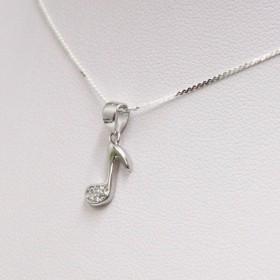 Zirconia Quaver Pendant (Sterling Silver)