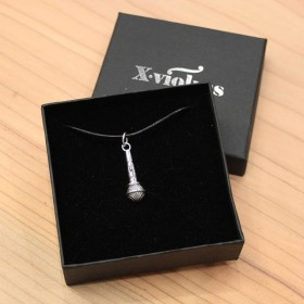 Microphone Pendant Sterling Silver