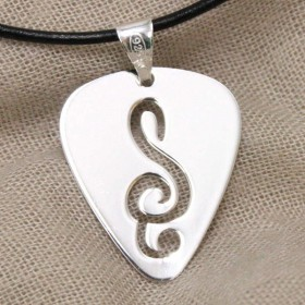 Pick Treble Clef pendant (Sterling Silver)