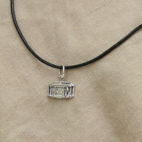 Drum Pendant Sterling Silver