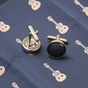 Set of Classic Guitar Tie, Cufflinks and Pocket Square