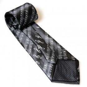 Black Treble Clef tie