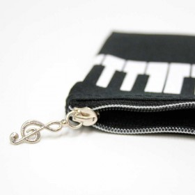 Keyboard pencil case. Black Nylon