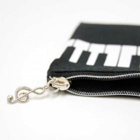 Keyboard pencil case. Black Nylon
