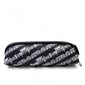Black triangular score pencil case