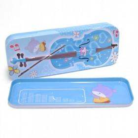 Violin Pencil Case blue