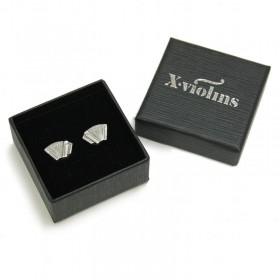 Accordion mini earrings (sterling silver)