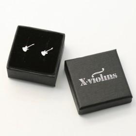 Electric Guitar mini earrings (sterling silver)