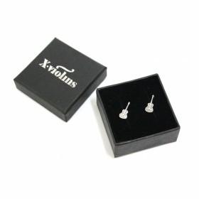 Classic Guitar mini earrings (sterling silver)