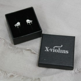 Piano mini earrings (sterling silver)