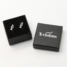 Trumpet mini earrings (sterling silver)
