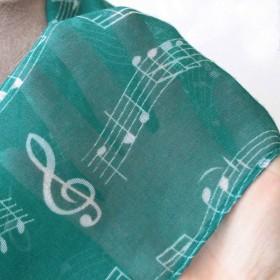 Green scarf, music score