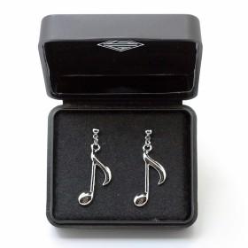 Quaver 3D Pierced Earrings