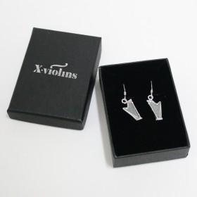 Harp earrings (sterling silver)