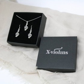 G key earrings and pendant (sterling silver)
