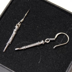 Sterling Silver Flute Earrings