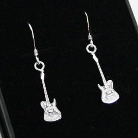 Electric guitar earrings (sterling silver)
